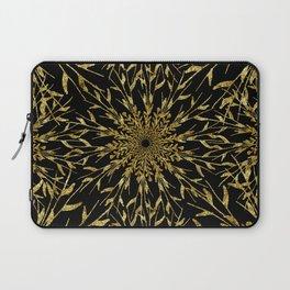 Black Gold Glam Nature Laptop Sleeve