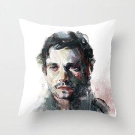 L'uomo dal fiore in bocca Throw Pillow