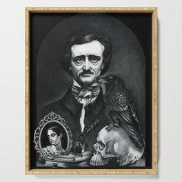 Edgar Allan Poe Portrait Serving Tray