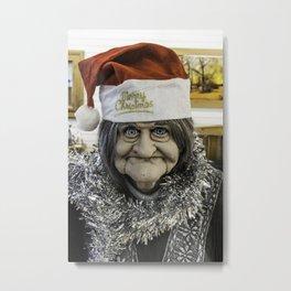 Christmas Grandma Metal Print