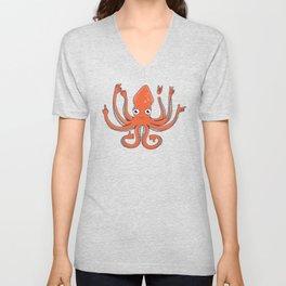 Octopus Signals Unisex V-Neck