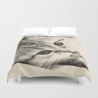 thundercats Duvet Covers featuring Kitten by Augustinet