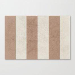 vintage natural stripes Canvas Print