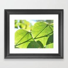 Heart leaf Framed Art Print
