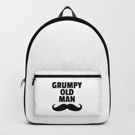 Grumpy Old Man Funny Quote Backpack