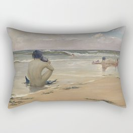 Rupert Bunny - Sea idyll, 1891 Rectangular Pillow