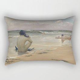 Rupert Bunny - Sea idyll, 1891 Rectangular Pillow