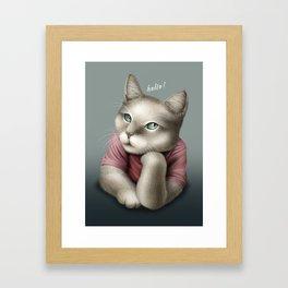 HELLO CAT Framed Art Print