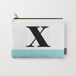 Monogram Letter X-Pantone-Limpet Shell Carry-All Pouch