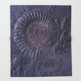 Ancient fossils Throw Blanket