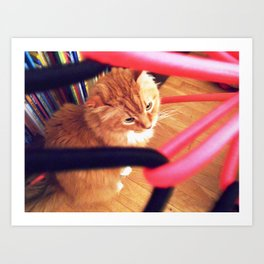 Under bungee chair Art Print