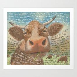 Cows 3 Art Print
