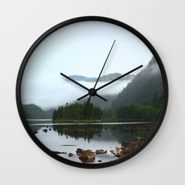Peaceful Morning on the Lake Wall Clock
