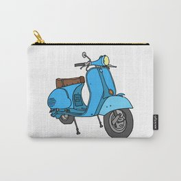 Blue motor scooter (vespa) Carry-All Pouch