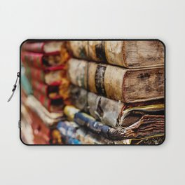 Stacks and stacks of books, Venice Italy Laptop Sleeve