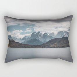 Somewhere over the mountain range Rectangular Pillow