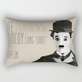 Chaplin Scomposition Rectangular Pillow