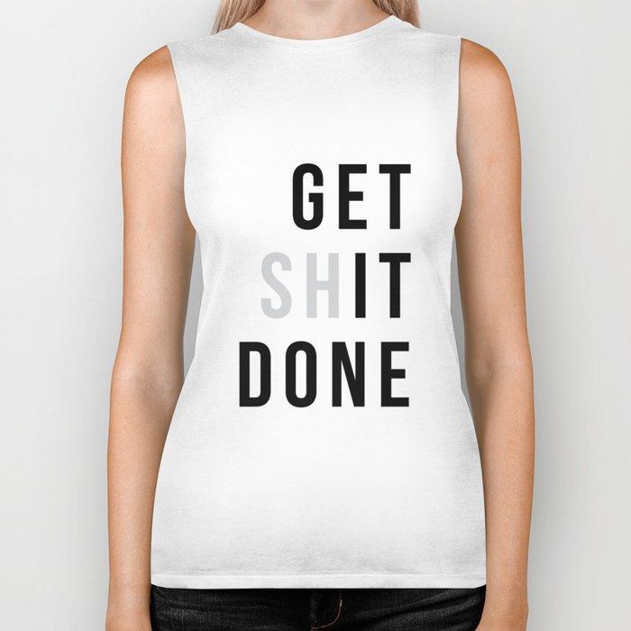 Get Sh(it) Done // Get Shit Done Biker Tank