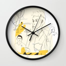 Poster of LGBT Londoners Wall Clock