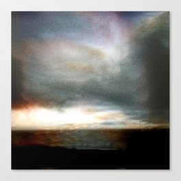 Dusk over Sandymount Strand Dublin Canvas Print