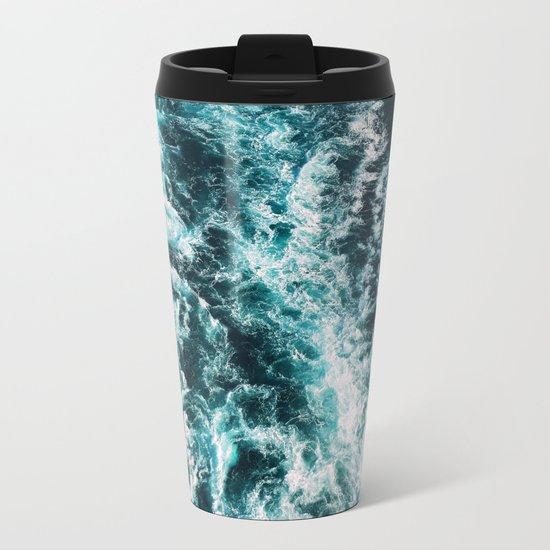 Beauty Waves Metal Travel Mug