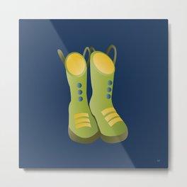 Fun Rain Boots Metal Print