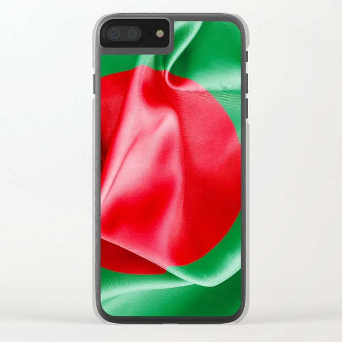 Bangladesh Flag Clear iPhone Case