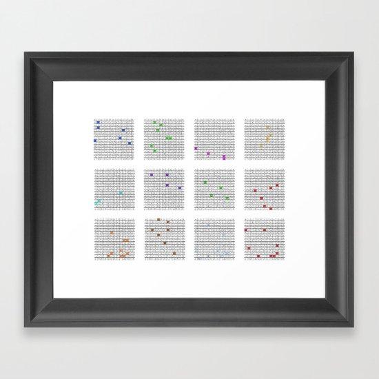 The -endless- Calendar for Germany Framed Art Print