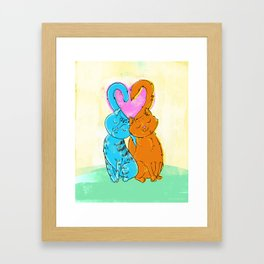 Tails of love Framed Art Print