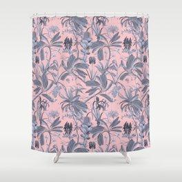 Botanical Stravaganza on pink Shower Curtain