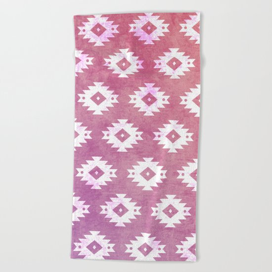 Aztec Pattern 10 Beach Towel
