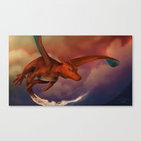 charizard Canvas Prints featuring Charizard by Chris Masna