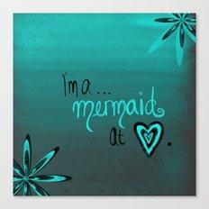 Mermaid At Heart Canvas Print