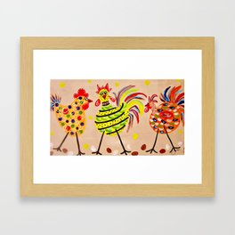 Crazy Chics Framed Art Print