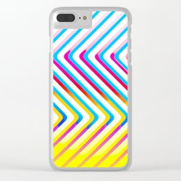 Pop Optical Art Clear iPhone Case