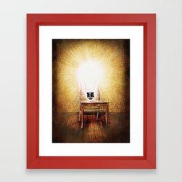The Seat of Big Ideas Framed Art Print