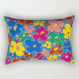 Free Form Funky Flowers by Nettwork2Design - Nettie Heron-Middleton Rectangular Pillow