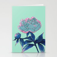 peony Stationery Cards featuring Peony by Ludovic Jacqz