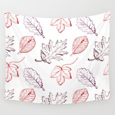 Leaves (reds) Wall Tapestry