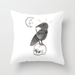 A Crow For Life Throw Pillow