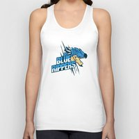 monster hunter Tank Tops featuring Monster Hunter All Stars - Blue Rippers by Bleached ink