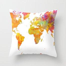world map 23 Throw Pillow