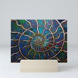 Ammonite 18b Mini Art Print