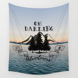 Lets Be Adventurers Wall Tapestry