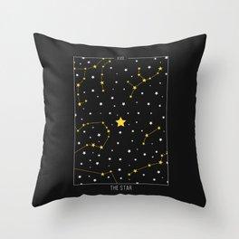 The Star - Tarot Illustration Throw Pillow