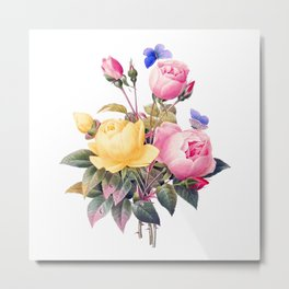 vintage flower bouquet #society6 #decor #buyart Metal Print