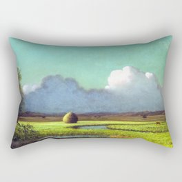 Martin Johnson Heade Sunlight Shadow Newbury Marsh Rectangular Pillow