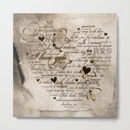 Ich liebe Dich -  I love you Metal Print