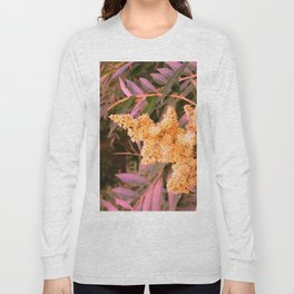Pale Yellow and Green Sideways Sumac Long Sleeve T-shirt
