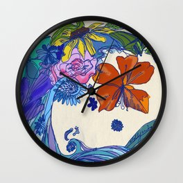 Flower Wave Wall Clock